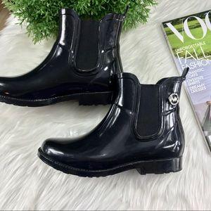 Michael Kors Black Charm Ankle Rain Slip In  Boots